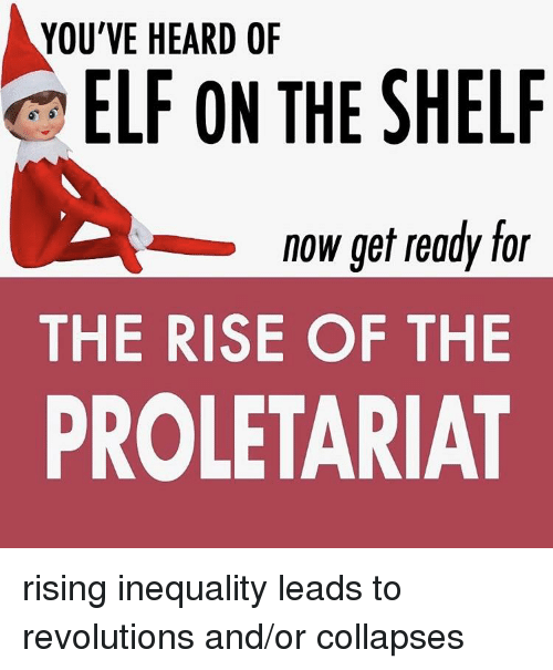 Elf, Elf on the Shelf, and History: YOU'VE HEARD OF  ELF ON THE SHELF  -now get ready for  THE RISE OF THE  PROLETARIAT