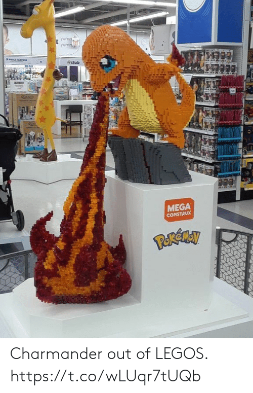 Legos: yumn  yumn  8ICE MATD  Hclub  MEGA  CONSTRUX Charmander out of LEGOS. https://t.co/wLUqr7tUQb