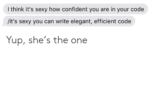 The One: Yup, she's the one