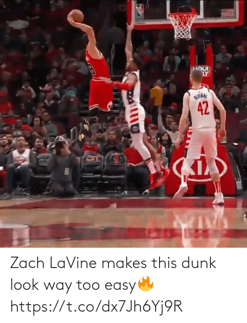 Too Easy: Zach LaVine makes this dunk look way too easy🔥 https://t.co/dx7Jh6Yj9R