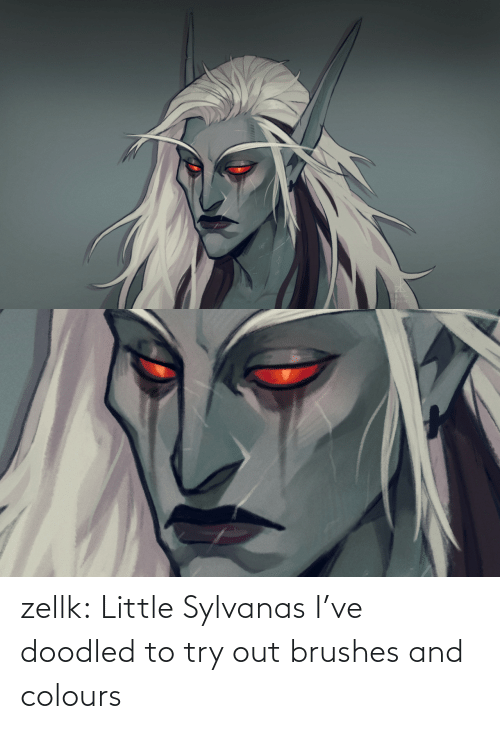 Ive: zellk:  Little Sylvanas I've doodled to try out brushes and colours
