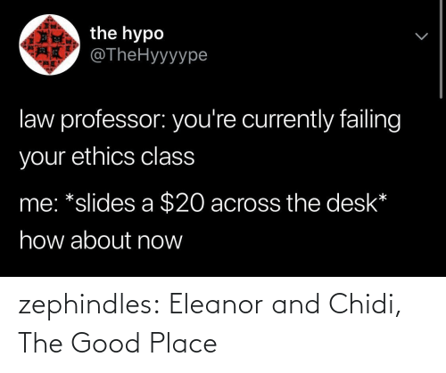 Good: zephindles: Eleanor and Chidi, The Good Place