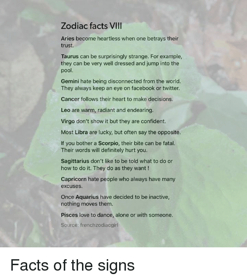 Zodiac Facts VIII Aries Become Heartless When One Betrays