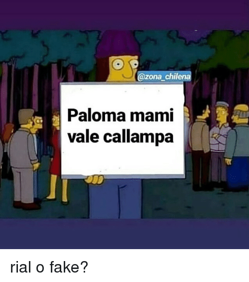 Fake, Memes, and 🤖: @zona chilena  Paloma mami  vale callampa rial o fake?