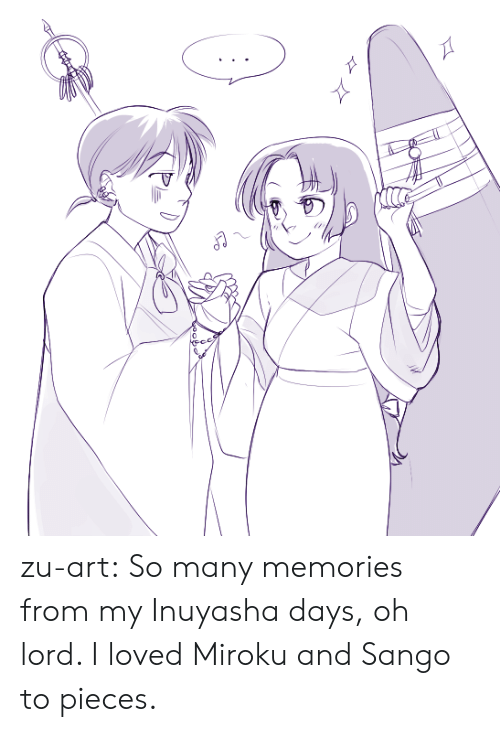 Target, Tumblr, and Blog: zu-art: So many memories from my Inuyasha days, oh lord. I loved Miroku and Sango to pieces.